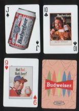 Collectable advertising playing card for Budweiser Beer